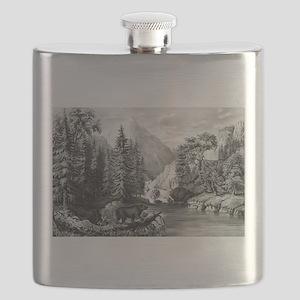 The mountain pass, Sierra Nevada - 1867 Flask