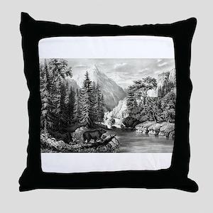 The mountain pass, Sierra Nevada - 1867 Throw Pill