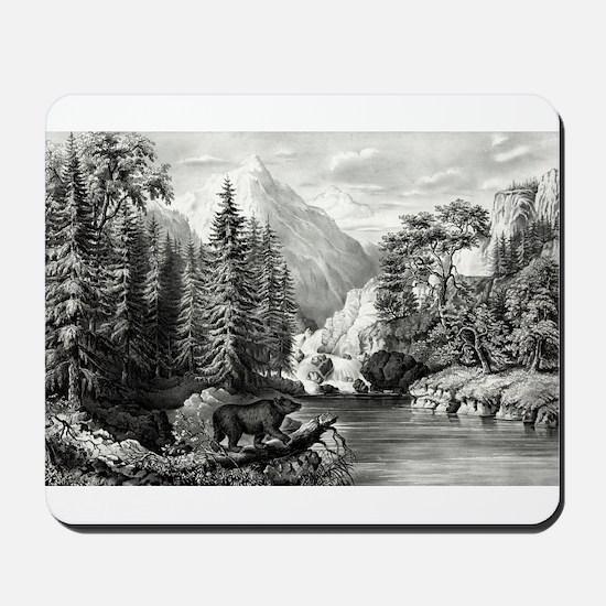The mountain pass, Sierra Nevada - 1867 Mousepad
