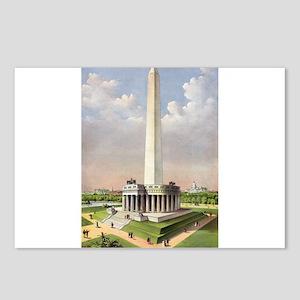 The National Washington Monument - 1885 Postcards