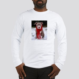 Winter Pit Bull Long Sleeve T-Shirt