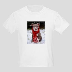 Winter Pit Bull Kids Light T-Shirt