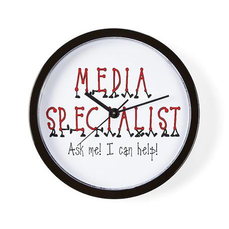 Media Specialist Wall Clock