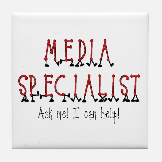 Media Specialist Tile Coaster