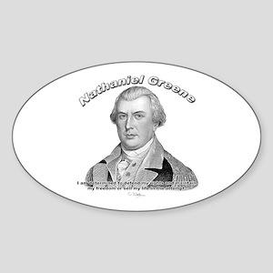 Nathaniel Greene 01 Oval Sticker