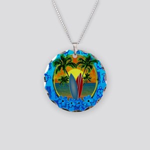 Surfing Sunset Honu Necklace