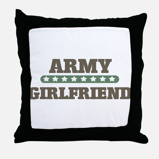 Army Stars Girlfriend Throw Pillow