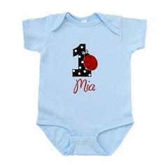 MIA Ladybug 1st Birthday 1 Body Suit