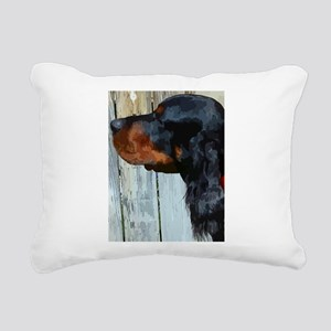 Painted Gordon Setter Rectangular Canvas Pillow