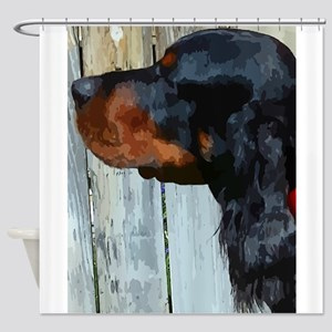 Painted Gordon Setter Shower Curtain