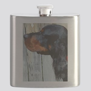 Painted Gordon Setter Flask