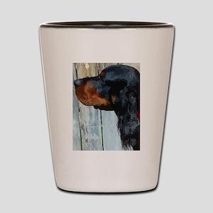 Painted Gordon Setter Shot Glass