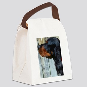 Painted Gordon Setter Canvas Lunch Bag
