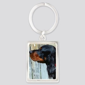 Painted Gordon Setter Keychains