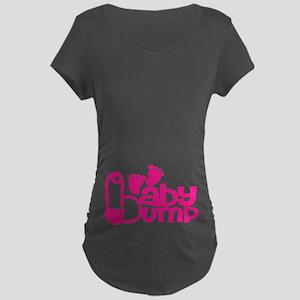 Hot Pink Baby Bump Maternity T-Shirt