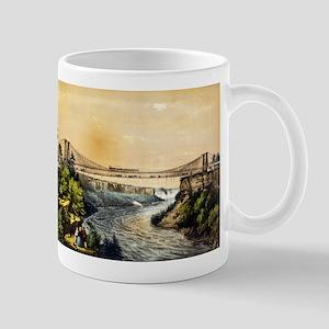 The Rail road suspension bridge near Niagara Falls