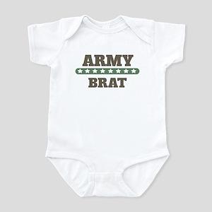 Army Stars Brat Infant Bodysuit