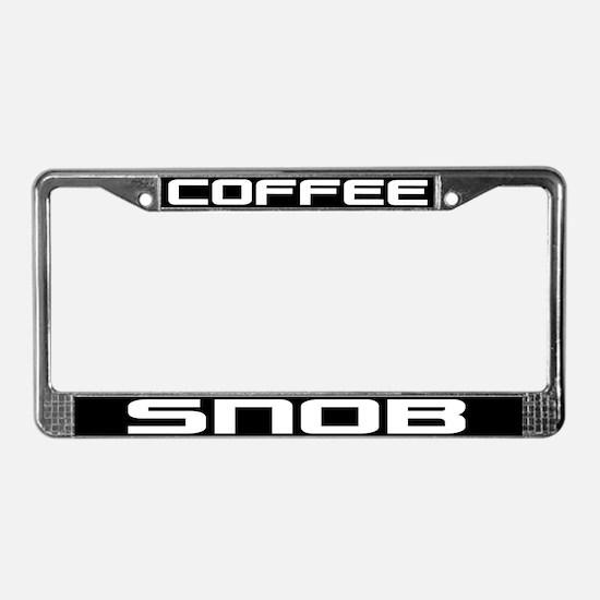 Coffee Snob License Plate Frame