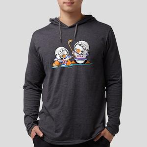 Ice Hockey Penguins (1) Mens Hooded Shirt