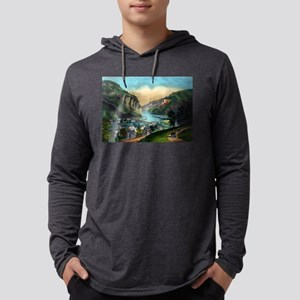 View of Harpers Ferry, Va. - 1907 Mens Hooded Shir