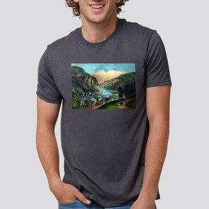 View of Harpers Ferry, Va. - 1907 Mens Tri-blend T
