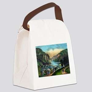 View of Harpers Ferry, Va. - 1907 Canvas Lunch Bag