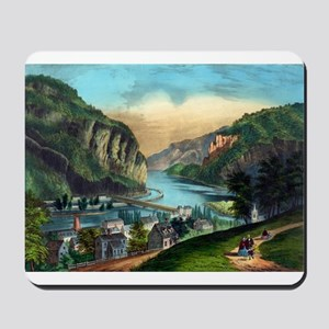 View of Harpers Ferry, Va. - 1907 Mousepad