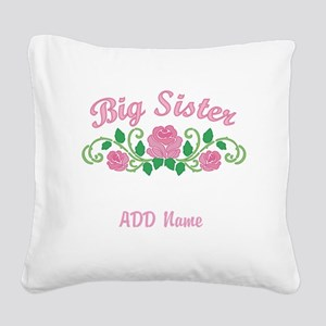 Personalized Sisters Square Canvas Pillow