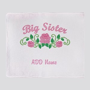 Personalized Sisters Throw Blanket