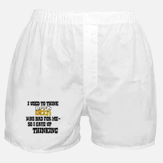 I Used to Think Beer Boxer Shorts