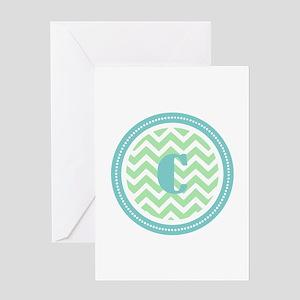Teal & Green Greeting Card