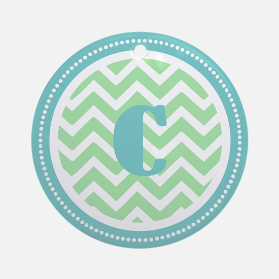 Teal & Green Ornament (Round)
