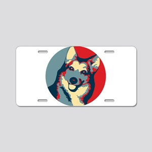 ONE HAPPY DOG! Aluminum License Plate
