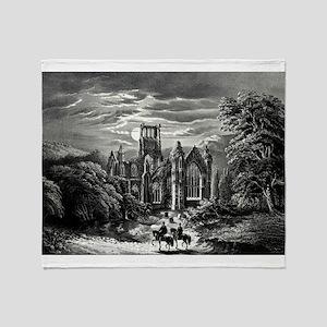 Melrose Abbey - 1862 Throw Blanket
