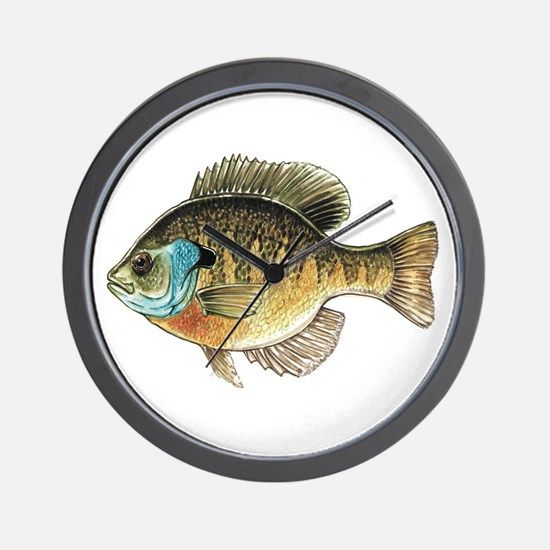 Bluegill Bream Fishing Wall Clock