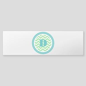 Teal & Green Sticker (Bumper)