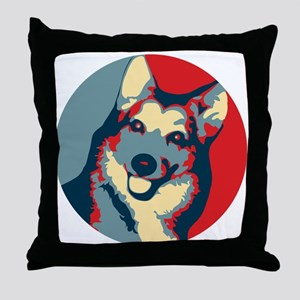 ONE HAPPY DOG! Throw Pillow