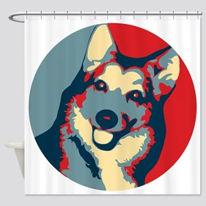 ONE HAPPY DOG! Shower Curtain
