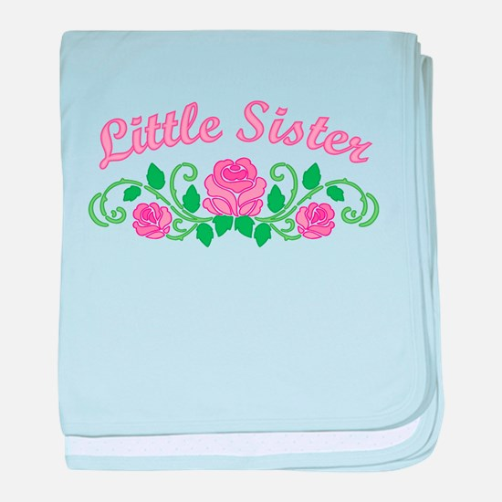 Little Sister Roses baby blanket