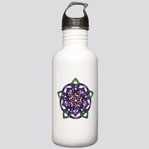 Purple Celtic Rose Stainless Water Bottle 1.0L