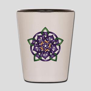 Purple Celtic Rose Shot Glass