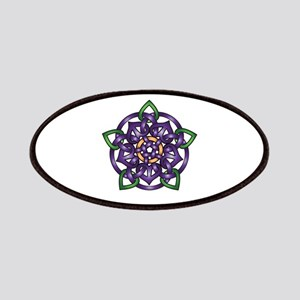 Purple Celtic Rose Patches
