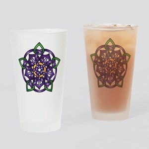 Purple Celtic Rose Drinking Glass
