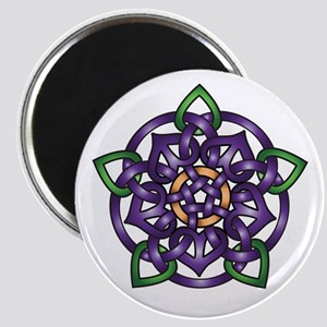 Purple Celtic Rose Magnet