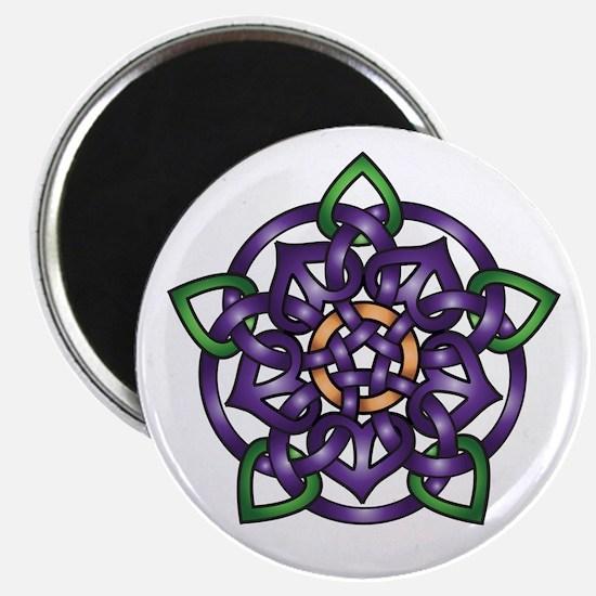 """Purple Celtic Rose 2.25"""" Magnet (10 pack)"""
