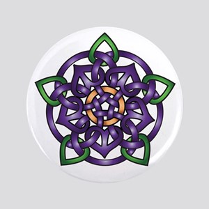 "Purple Celtic Rose 3.5"" Button"