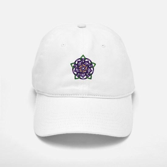 Purple Celtic Rose Baseball Baseball Cap