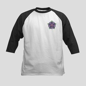 Purple Celtic Rose Kids Baseball Jersey