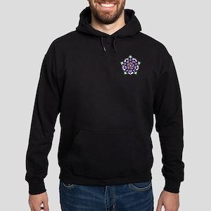 Purple Celtic Rose Hoodie (dark)