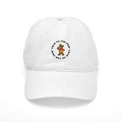 Talk To The Paw Teddy Bear Baseball Cap